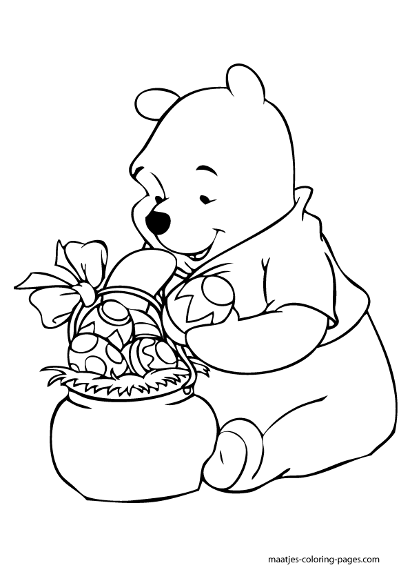 the pooh easter coloring pages - photo#24