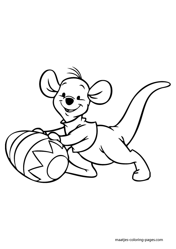the pooh easter coloring pages - photo#22