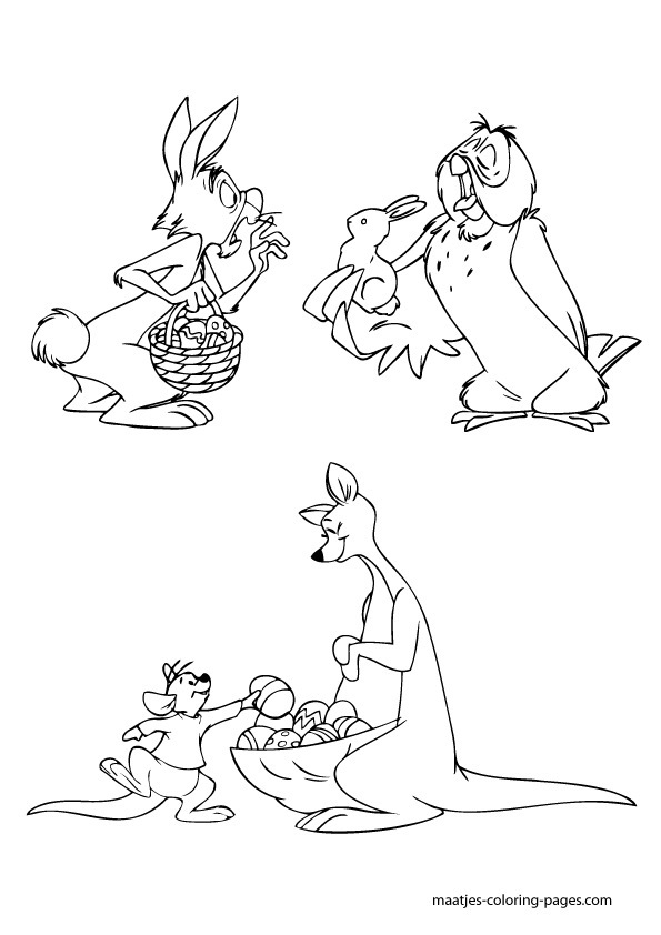 the pooh easter coloring pages - photo#15