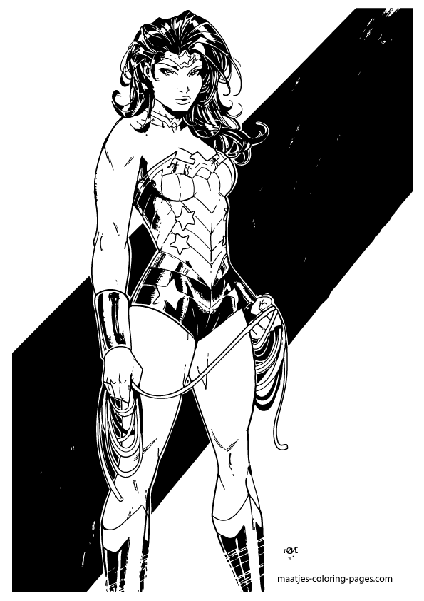 Wonder woman coloring pages for Coloring pages wonder woman