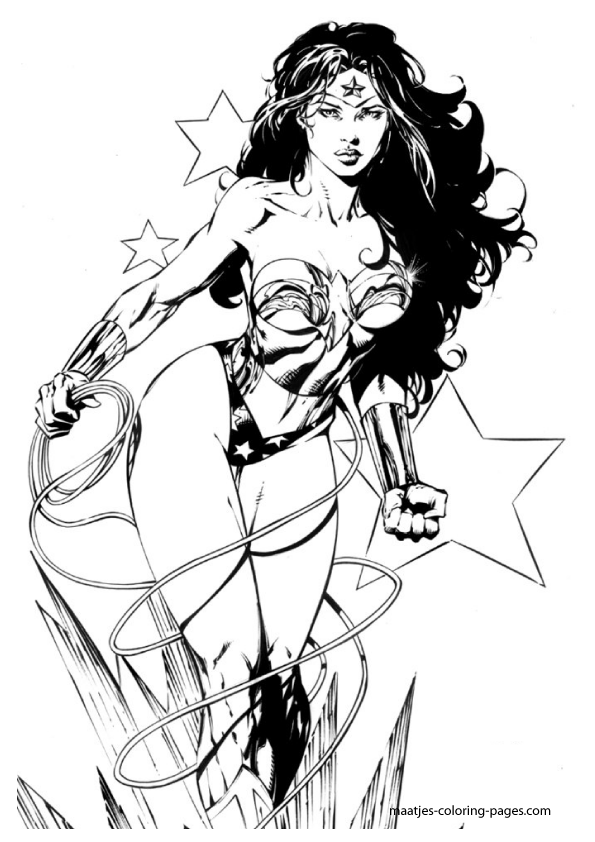 wonder woman coloring pages - photo#22