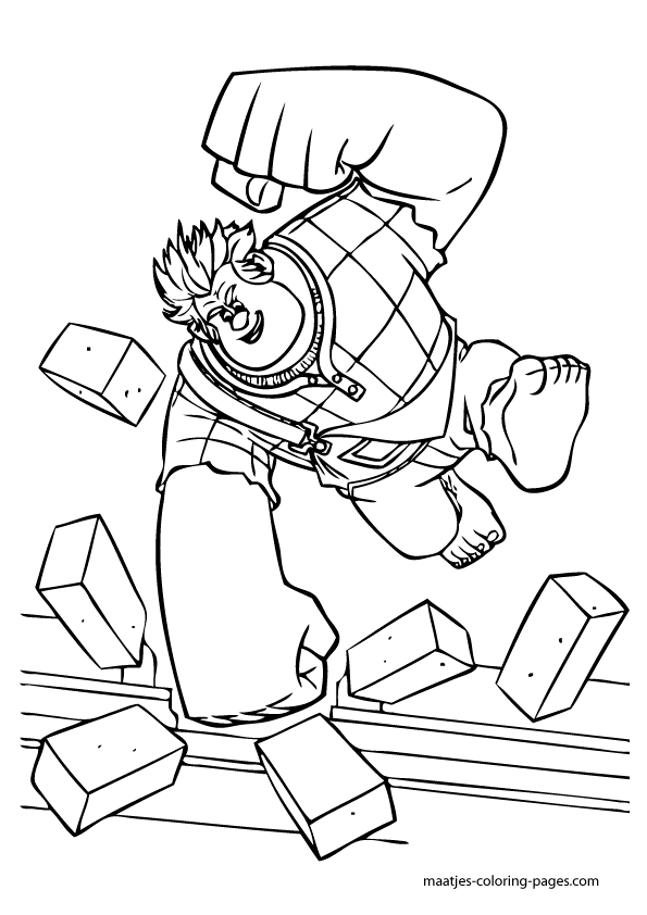 Wreck It Ralph Coloring Pages Coloring Pages