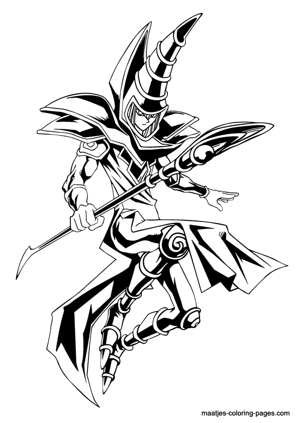 coloring book pages yugioh - photo#32