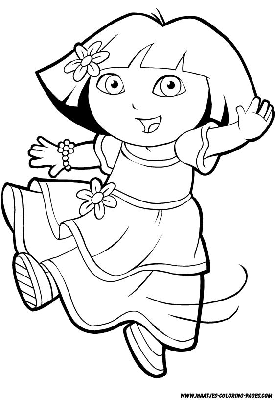 Dora The Explorer Princess Coloring Page