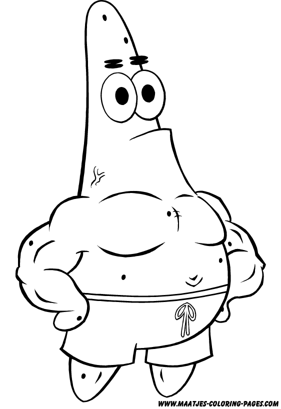 Spongebob Patrick Coloring Pages Funny As Well As Sample Worksheet For ...