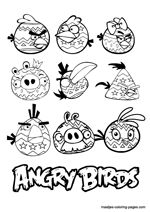 Angry Birds Easter coloring pages
