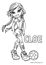 Jade Bratz Playing Football Coloring Pages - Bratz Coloring Pages ... | 212x150