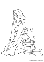 Cinderella Fairy Godmother Coloring Pages - Get Coloring Pages | 212x150