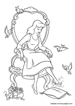 Pin by Kelly Broughton on coloring pages | Cinderella coloring ... | 212x150