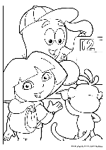 dora valentine coloring pages - dora the explorer coloring pages