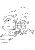 Go Diego Go free printable coloring page - Coloring Library | 212x150