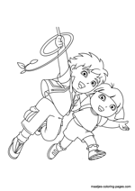 Go Diego Go colouring page - Coloring Library | 212x150