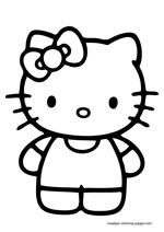 japanese hello kitty coloring pages - photo#44