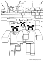 minecraft blocks coloring pages - photo#19