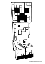 Minecraft Mutant Creeper Coloring Pages Coloring Pages