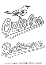 cardinals coloring pages baseball logos | Major League Baseball MLB Coloring Pages
