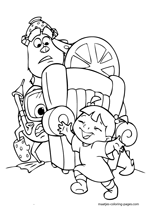 monsters inc coloring pages mike wazowski Coloring4free ... | 212x150