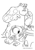 monsters inc door coloring pages - photo#26