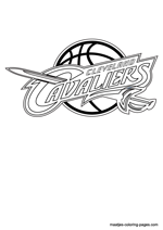 Cavs Mickey Mouse Basketball Coloring Pages