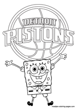 Detroit pistons nba coloring pages for Indiana pacers coloring pages