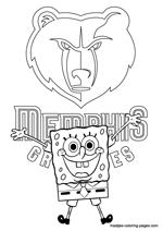 memphis grizzlies coloring pages - photo#14