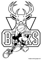 Milwaukee Bucks NBA coloring pages