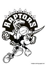 Toronto Raptors Nba Coloring Pages