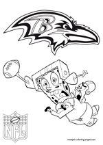 Baltimore ravens coloring pages for Baltimore ravens coloring pages print