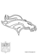broncos logo coloring pages - photo#26