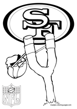 San Francisco 49ers NFL Coloring Pages