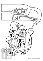coloring pages nfl football seahawks - photo#9