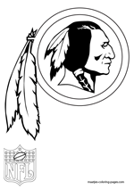 free printable nfl team logo coloring pages | Washington Redskins coloring pages