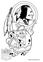 redskins coloring page - washington redskins coloring pages