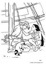 Pocahontas Saving John Smith Coloring Page