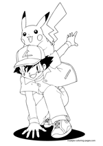 Pokemon, Ash Ketchum and Pikachu