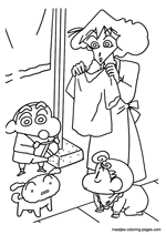 Shin chan coloring pages for Shin chan coloring pages