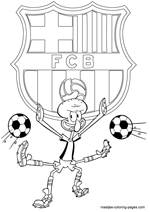 barcelona coloring pages to color | FC Barcelona soccer coloring pages