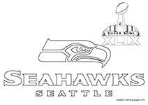 Free printable super bowl xlix coloring pages for Seahawks coloring page