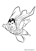 superman coloring pages overview 1
