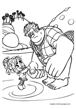 Wreck It Ralph shaking hands with Tafyta