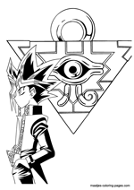 Yu-Gi-Oh coloring pages on Coloring-Book.info | 212x150