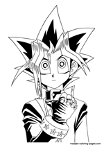 Yu-Gi-Oh coloring pages   212x150